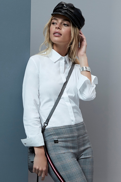 Lisette L Fall 2019 Blouse, Style 586257 Lisa Poplin Color White